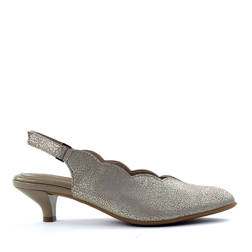 BeautiFeel Leah Gold Leopard side view - Hanig's Footwear