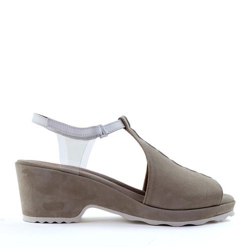 Beautifeel Jess Tahini side view - Hanig's Footwear