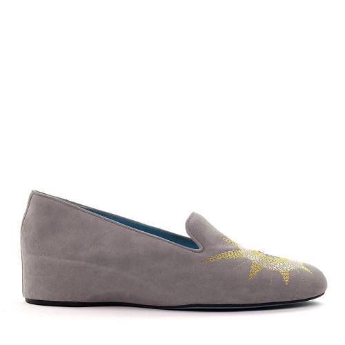 Thierry Rabotin Safi C757 Grey side view - Hanig's Footwear