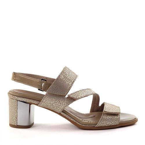 Beautifeel Dove gold Print side view - Hanig's Footwear
