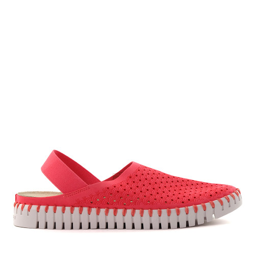 Ilse Jacobsen Tulip elastic raspberry side - Hanigs Footwear