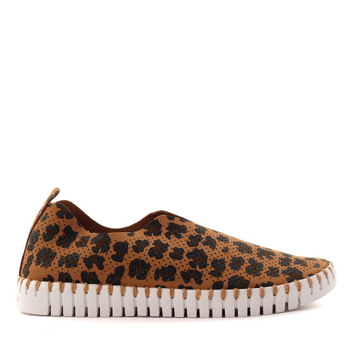 Ilse Jacobsen Tulip dark cheetah side - Hanigs Footwear