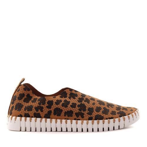 Ilse Jacobsen Tulip dark cheetah side - Hanigs Footwear