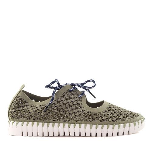 Ilse Jacobsen Tulip Mary Jane green side view - Hanig's Footwear