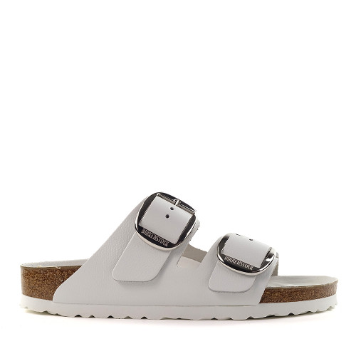 Birkenstock Arizona Big Buckle white side view - Hanig's Footwear