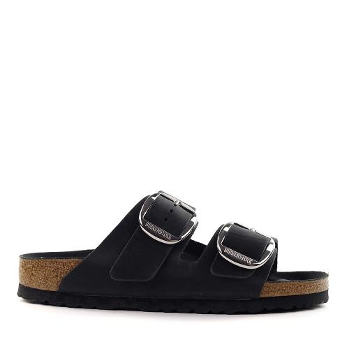 Birkenstock Arizona Big Buckle black side view - Hanig's Footwear