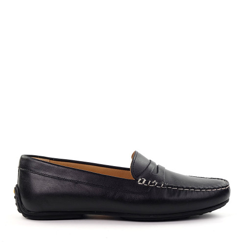 Samuel Hubbard Hubbard Driver Moc Black side - Hanig's Footwear
