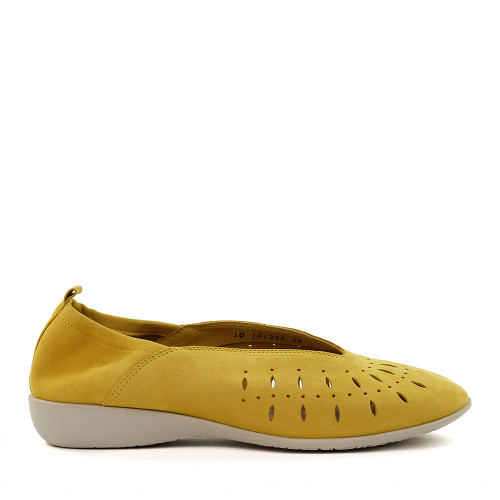 Hirica louise yellow side view - Hanig's Footwear