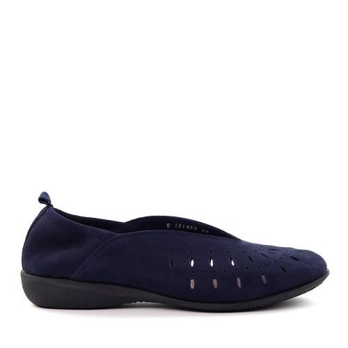 Hirica louise marine side view - Hanig's Footwear