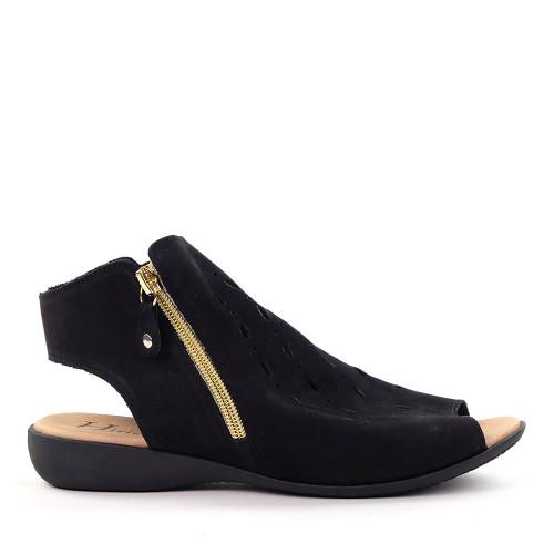 Hirica Lya Black side view - Hanig's Footwear