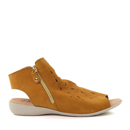 Hirica Lya Ocre side view - Hanig's Footwear