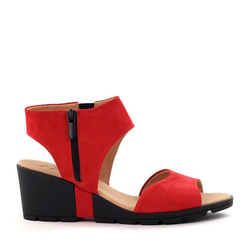 Hirica Clovis coral side view - Hanig's Footwear