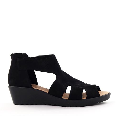 Hirica Betty Black side view - Hanig's Footwear