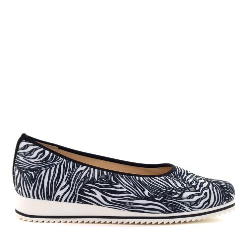 Hassia 301516-0100 Zebra stretch side view — Hanig's Footwear