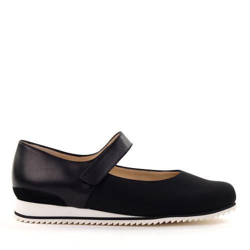 Hassia 301678-0100 Black Stretch side view - Hanig's Footwear