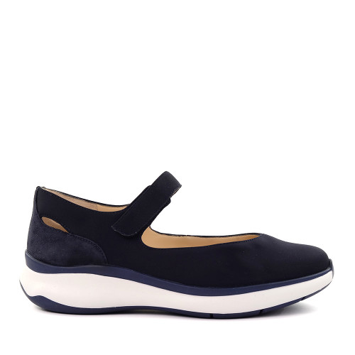 Hassia 301166-3000 Navy Stretch side view - Hanig's Footwear