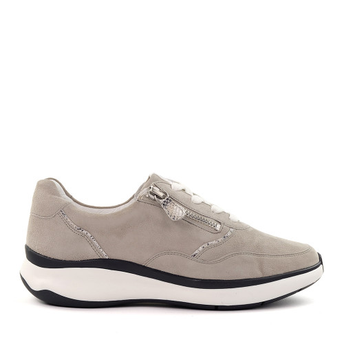 Hassia 301154-6504 Grey Suede side view - Hanig's Footwear