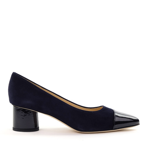 Brunate 50822 Navy Suede side view - Hanig's Footwear