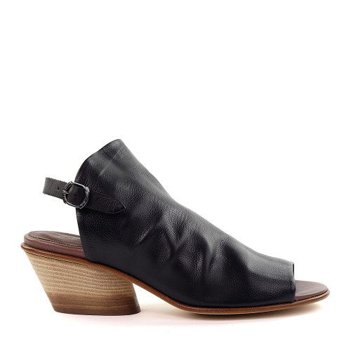 Lilimill 6815 Black Leather side view - Hanig's Footwear