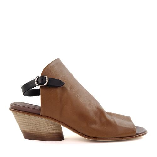 Lilimill 6815 tan Leather side view - Hanig's Footwear