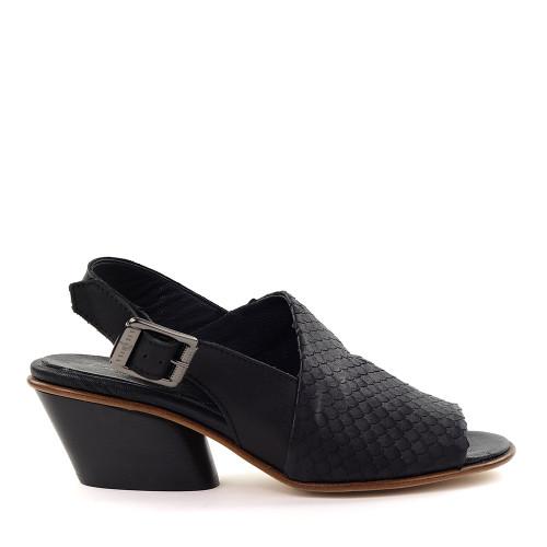 Lilimill Black Leather side view - Hanig's Footwear
