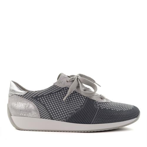 Ara Lilly Silver side view - Hanig's Footwear