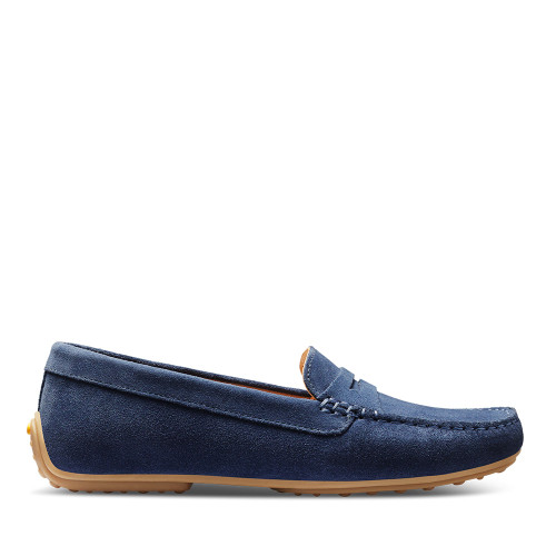 Samuel Hubbard Driver Moc Stone Wash side view - Hanig's Footwear