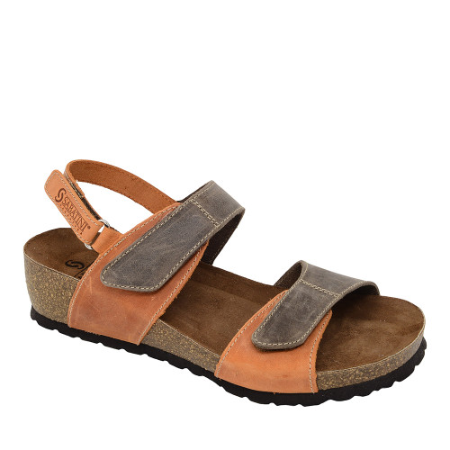 Sabatini 4006 Orange Sandal angle view - Hanigs Footwear
