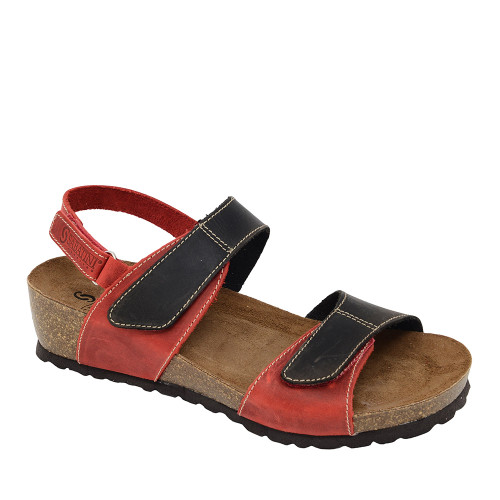 Sabatini 4006 Red Sandal angle view - Hanigs Footwear