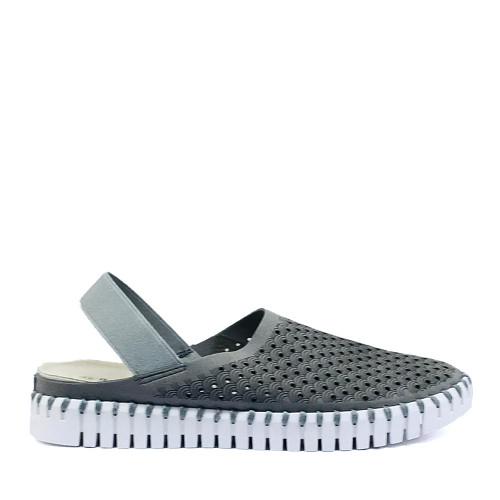 Ilse Jacobsen Tulip elastic gray side - Hanigs Footwear