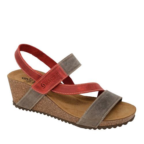 Sabatini 4352 Red angle - Hanig's Footwear