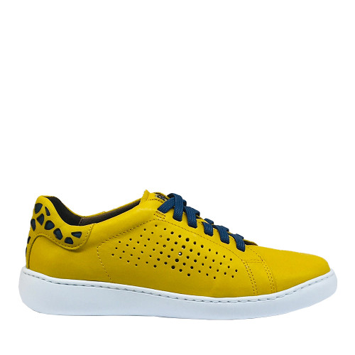 Flex and Go SB0704 yellow side view - Hanig's Footwear