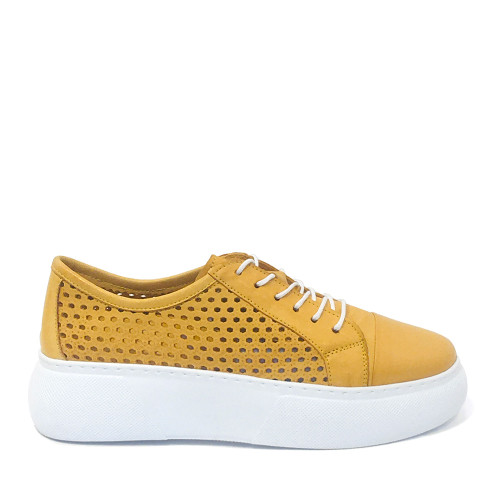 Mago 90114 Sneaker in Yellow side view - Hanig's Footwear