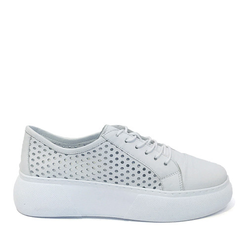 Mago 90114 Sneaker in white side view - Hanig's Footwear