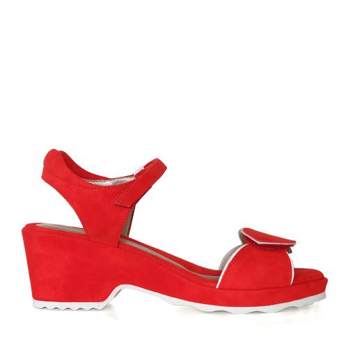 Beautifeel Emma red side view — Hanig's Footwear