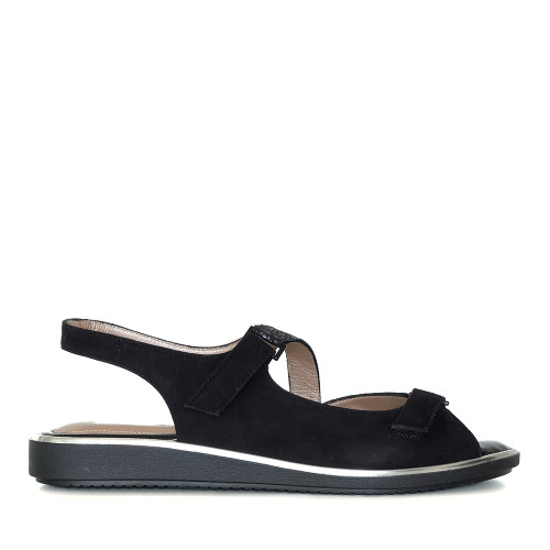 Beautifeel Robin Black Leo side view — Hanigs Footwear