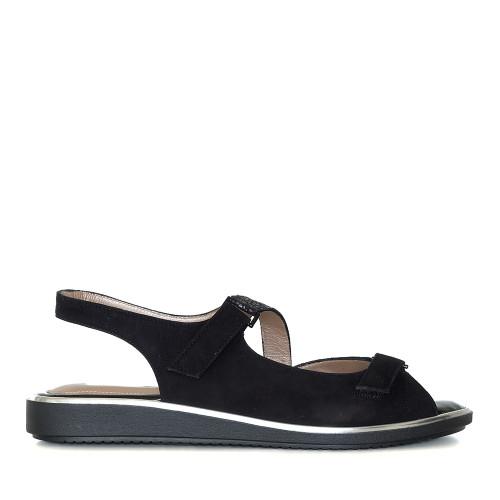 Beautifeel Robin Black Leo side view — Hanigs Footwear
