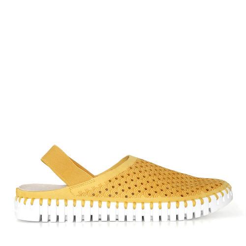 Ilse Jacobsen Tulip Elastic Golden Rod side view  - Hanig's Footwear