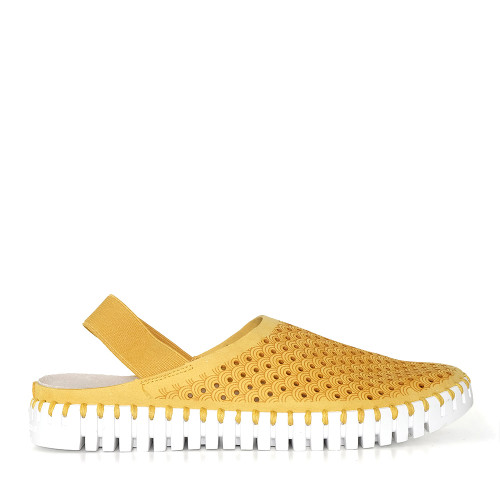 Ilse Jacobsen Tulip Elastic Golden Rod side view  - Hanig's Footwear