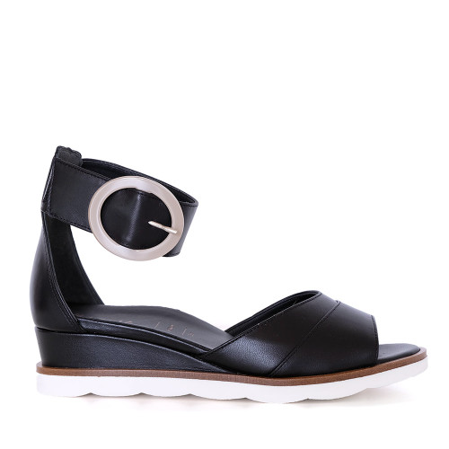 Hassia 31305-0100 Black Leather side view - Hanig's Footwear