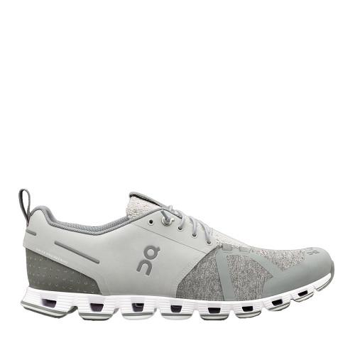 ON Running  Cloud Terry Silver Womens side view   Hanig's Footwear