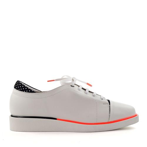 Beautifeel Jane White Leather side view - Hanig's Footwear