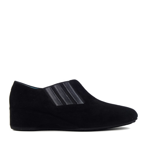 Thierry Rabotin Zita 1418M Black Suede side view - Hanig's Footwear