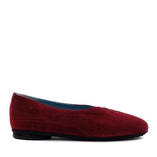Thierry Rabotin Grace 7410 Red Suede side view - Hanig's Footwear