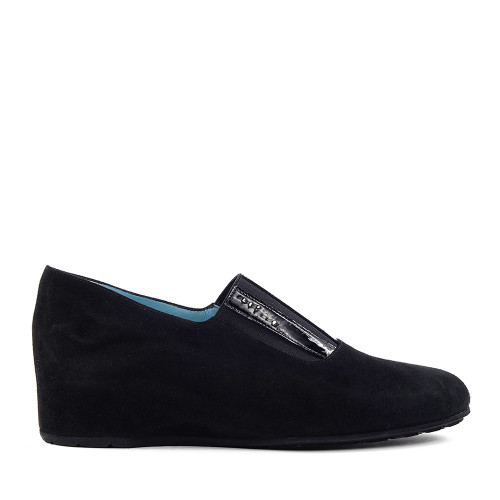 Thierry Rabotin Abha 2319M Black Suede side view - Hanig's Footwear