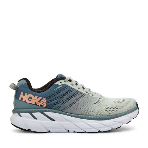 Hoka One One Clifton 6 Sea/Foam Womens side view - Hanig's Footwear