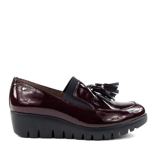 Wonders C-3342 Vino Charol side view - Hanig's Footwear