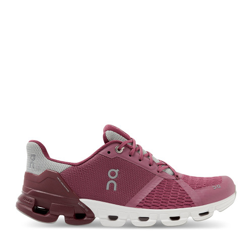 ON Running Cloudflyer Magenta side view — Hanigs Footwear