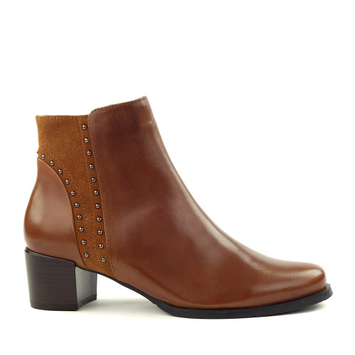 Regarde le Ciel Jolene-06 Cognac side view - Hanig's Footwear