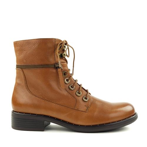 Regarde le Ciel Roxana-04 Cognac side view - Hanig's Footwear